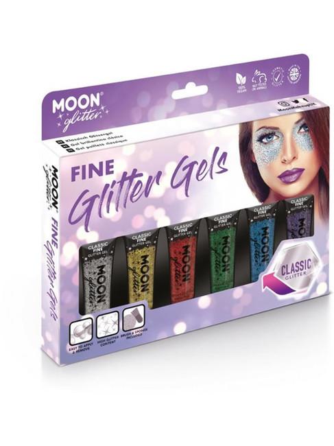 Moon Glitter Classic Fine Glitter Gel, Assorted.