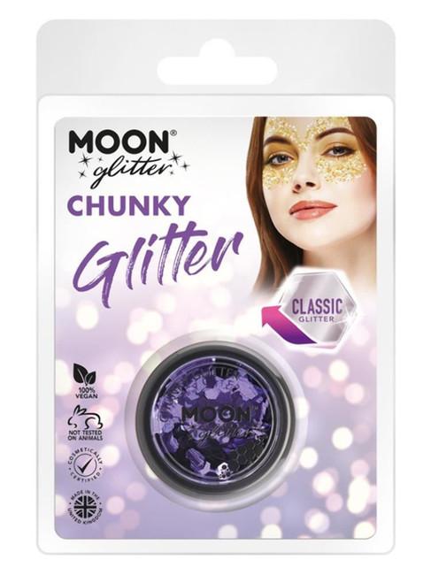 Moon Glitter Classic Chunky Glitter, Lilac.