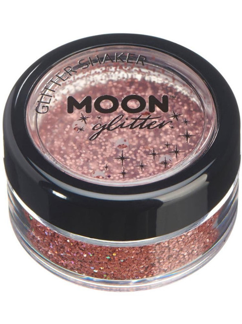 Moon Glitter Holographic Glitter Shakers, Rose Gol.