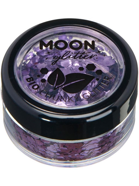 Moon Glitter Bio Chunky Glitter, Lilac.