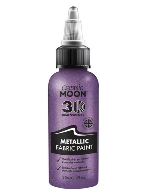 Cosmic Moon Metallic Fabric Paint, Purple.