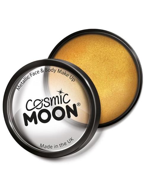 Cosmic Moon Metallic Pro Face Paint Cake Pots, Gol.