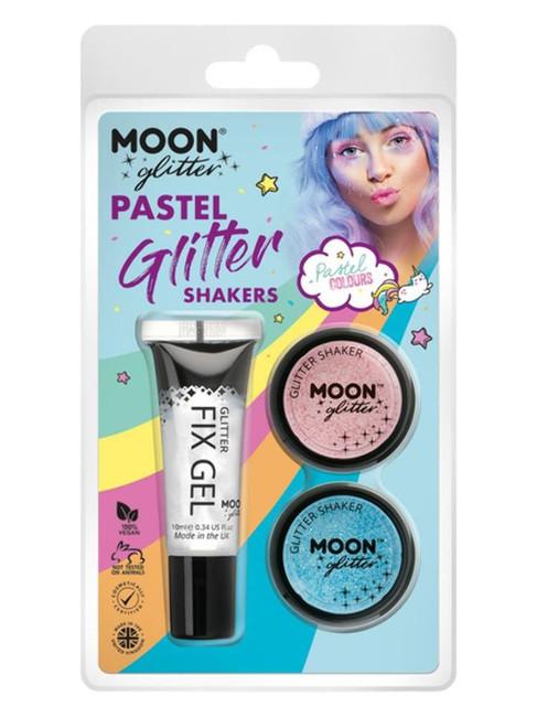 Moon Glitter Pastel Glitter Shakers,.