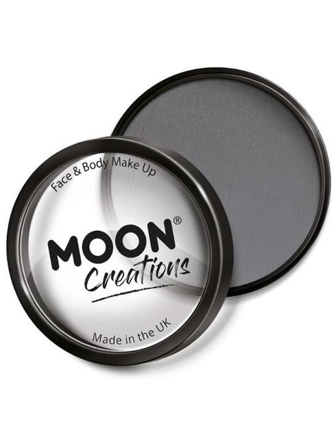 Moon Creations Pro Face Paint Cake Pot, Dark Grey.