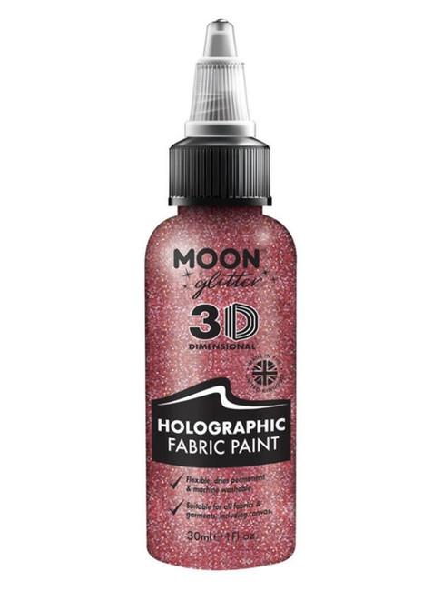Moon Glitter Holographic Glitter Fabric Paint, Pin.