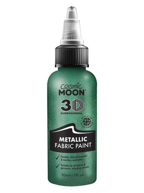 Cosmic Moon Metallic Fabric Paint, Green.