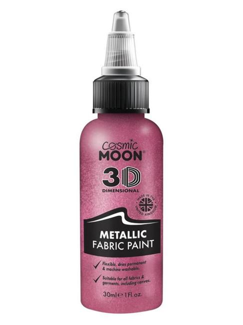 Cosmic Moon Metallic Fabric Paint, Pink.