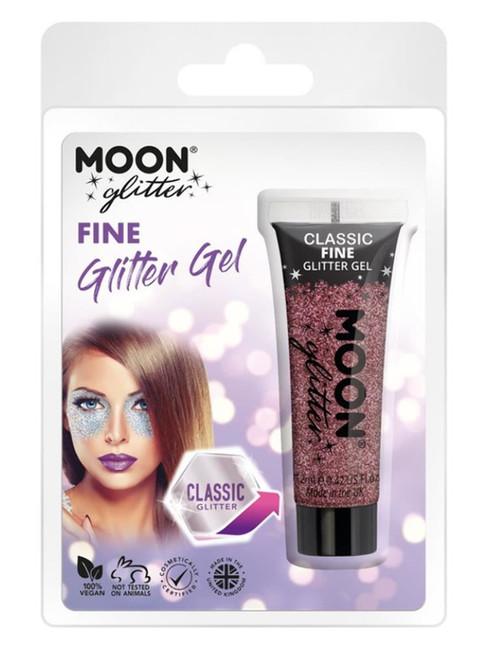 Moon Glitter Classic Fine Glitter Gel, Pink.