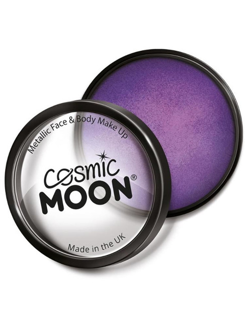 Cosmic Moon Metallic Pro Face Paint Cake Pots, Pur.