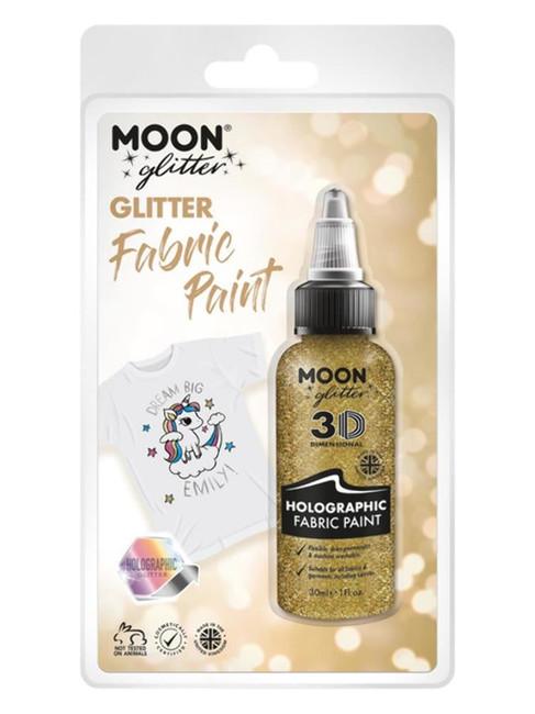 Moon Glitter Holographic Glitter Fabric Paint, Gol.