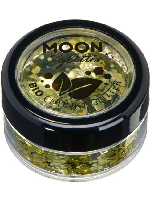 Moon Glitter Bio Chunky Glitter, Gold.