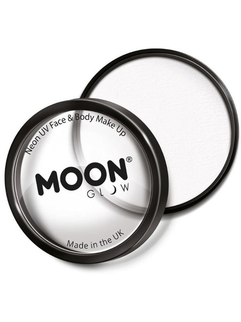 Moon Glow Pro Intense Neon UV Cake Pot, White.