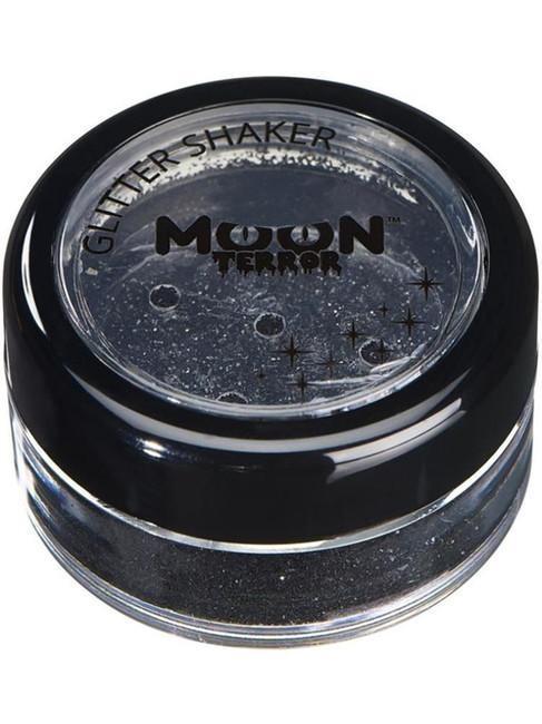Moon Terror Halloween Glitter Shakers, Black.