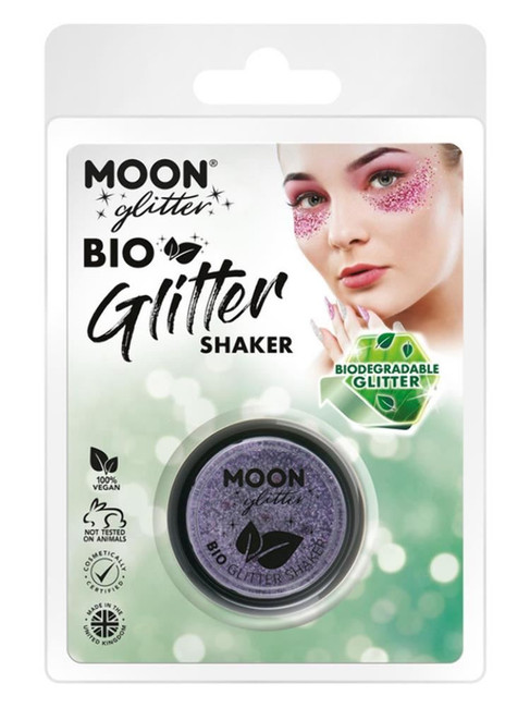 Moon Glitter Bio Glitter Shakers, Lilac.