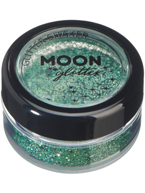 Moon Glitter Holographic Glitter Shakers, Green.