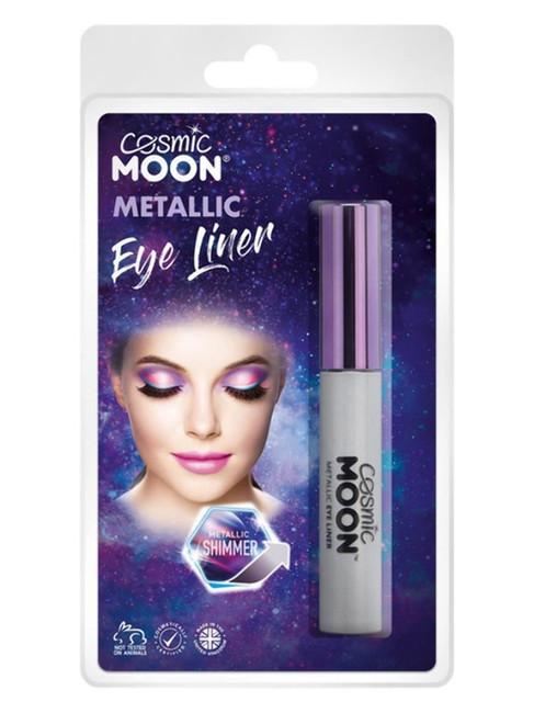 Cosmic Moon Metallic Eye Liner, Silver.