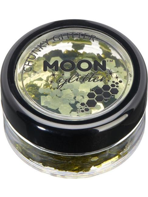 Moon Glitter Classic Chunky Glitter, Gold.