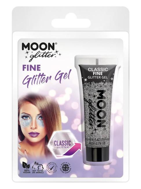 Moon Glitter Classic Fine Gliter Gel, Silver.
