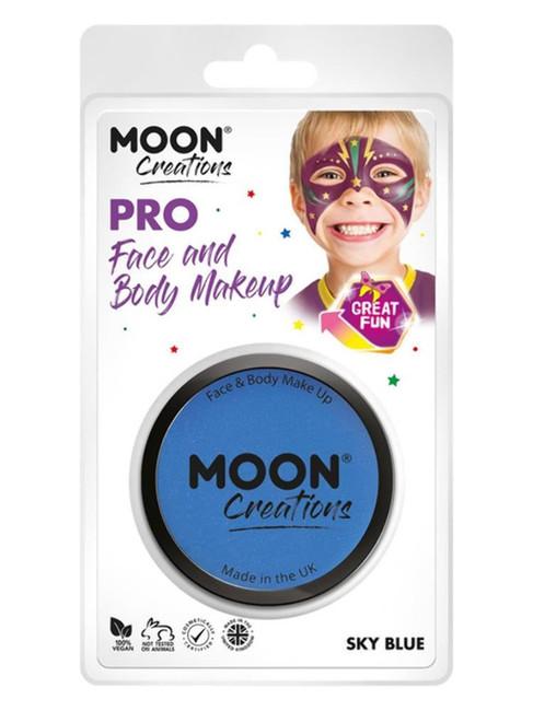 Moon Creations Pro Face Paint Cake Pot, Sky Blue.