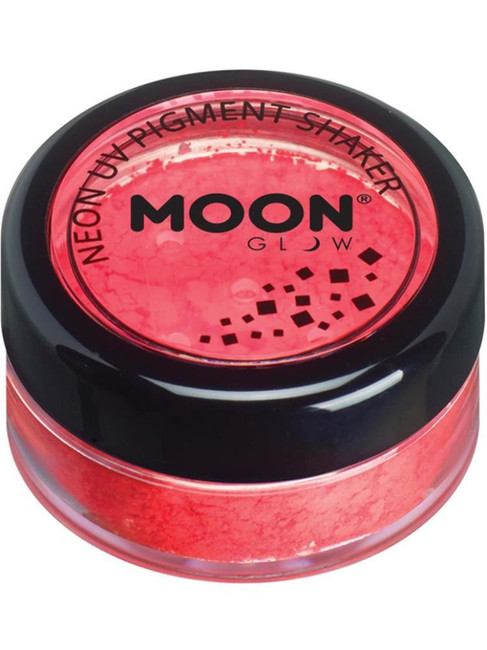 Moon Glow Intense Neon UV Pigment Shakers, Red.