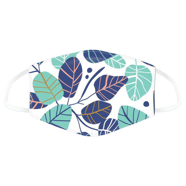 Simple Leaves Design Reusable Face Covering - Large