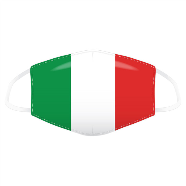 Italian Flag Reusable Face Covering - Large