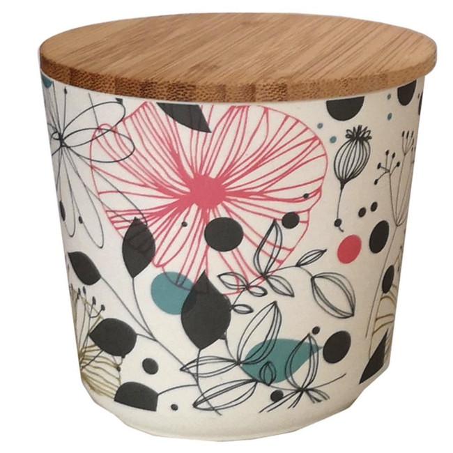 Wisewood Botanical Bamboo Composite Small Round Storage Jar