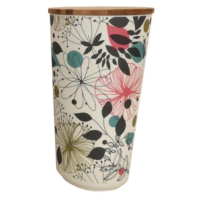 Wisewood Botanical Bamboo Composite Large Round Storage Jar