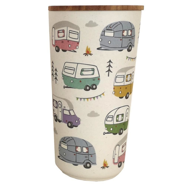 Wildwood Caravan Bamboo Composite Large Round Storage Jar