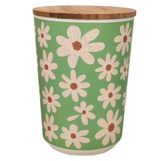 Daisy Bamboo Composite Medium Round Storage Jar