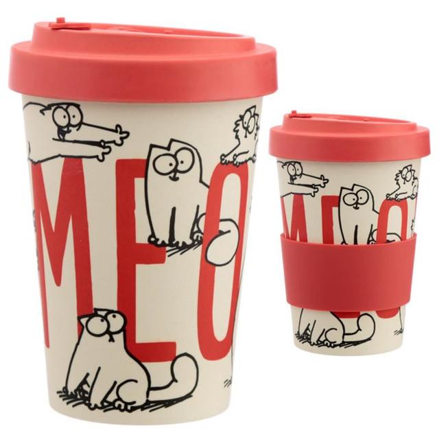 Simon's Cat Reusable Screw Top Bamboo Composite Travel Mug