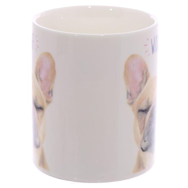 WOOF French Bulldog Porcelain Mug