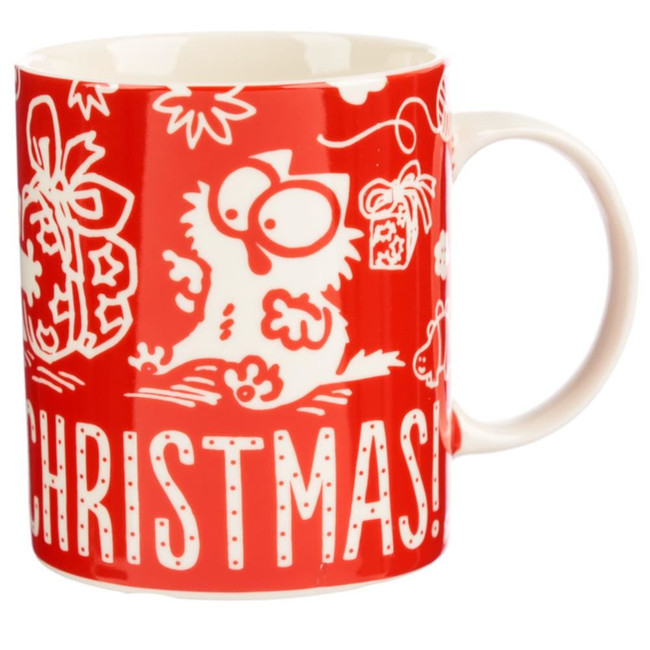 Simon's Cat Meowy Christmas Porcelain Mug