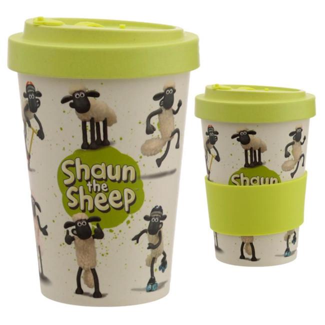 Shaun the Sheep Reusable Screw Top Bamboo Composite Travel Mug