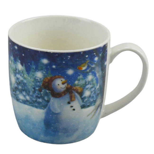 Jan Pashley Christmas Snowman Porcelain Mug
