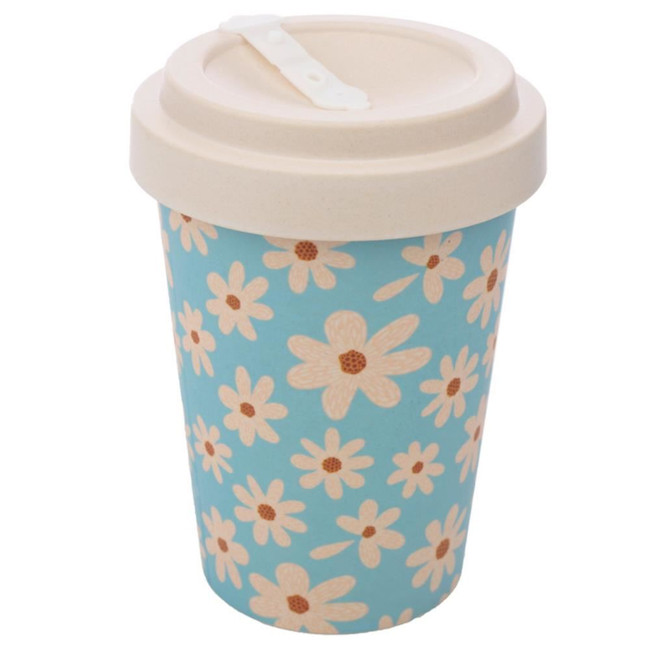 Daisy Reusable Screw Top Bamboo Composite Travel Mug