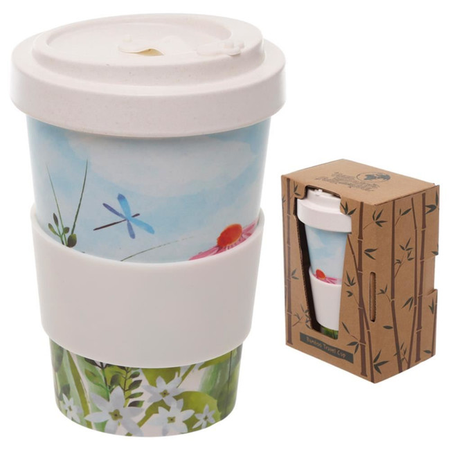 Botanical Gardens Reusable Screw Top Bamboo Composite Travel Mug