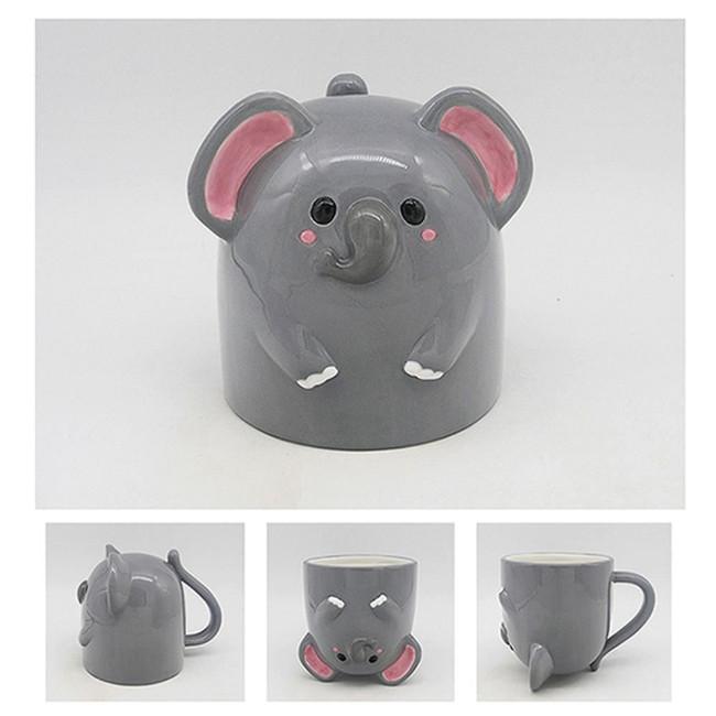 Cutiemals Elephant Upside Down Ceramic Mug