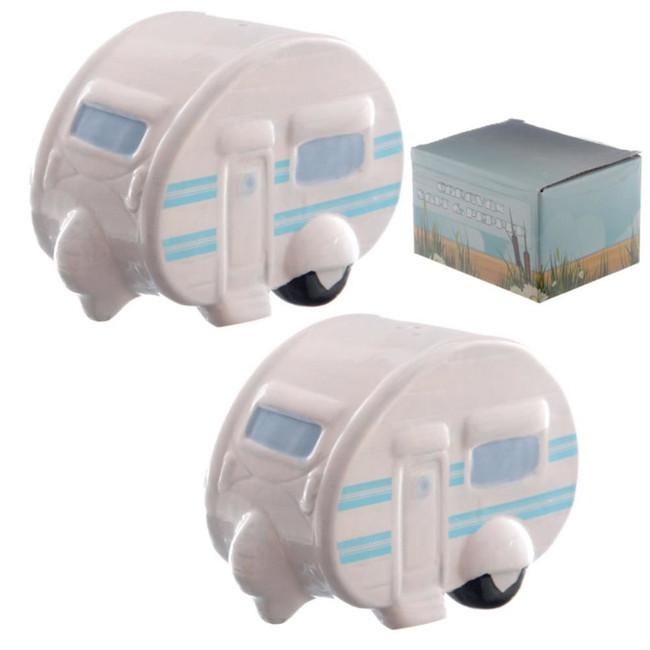 Ted Smith Ceramic Caravan Salt & Pepper Set