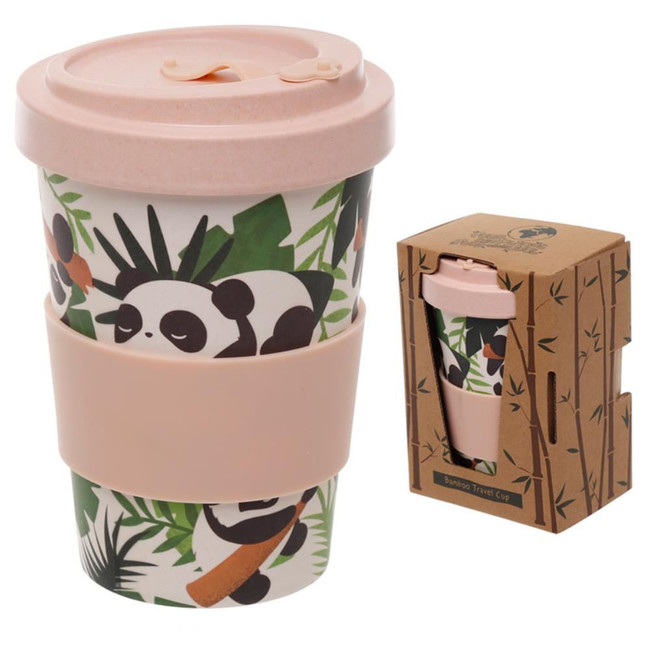 Pandarama Reusable Screw Top Bamboo Composite Travel Mug