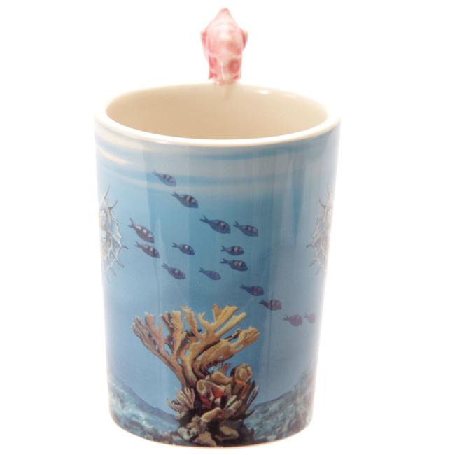 Lisa Parker Seahorse Handle Mug with Underwater Decal