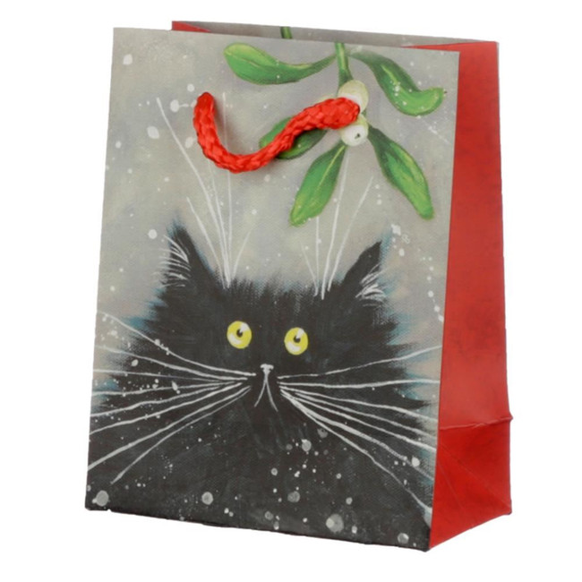 Christmas 2020 Kim Haskins Cat Gift Bag - Small
