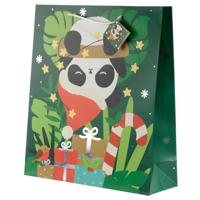 Christmas Panda Gift Bag - Extra Large
