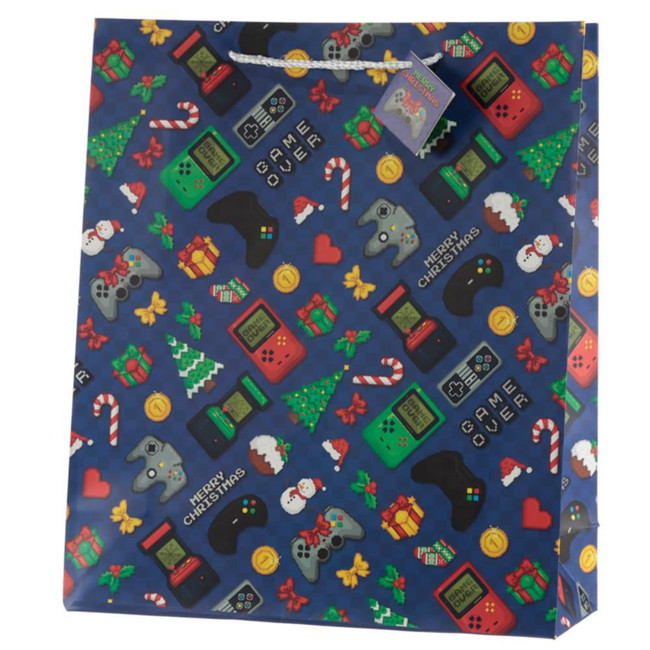 Christmas Game Over Gift Bag - Extra Large