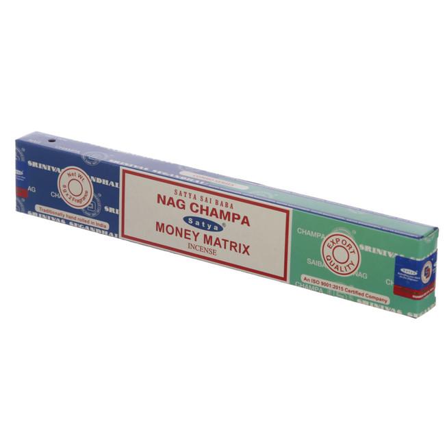 01324 Satya Nag Champa & Money Matrix Incense Sticks