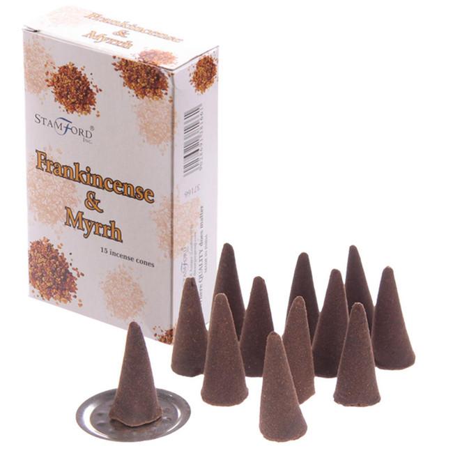 37166 Stamford Incense Cones - Frankincense & Myrrh