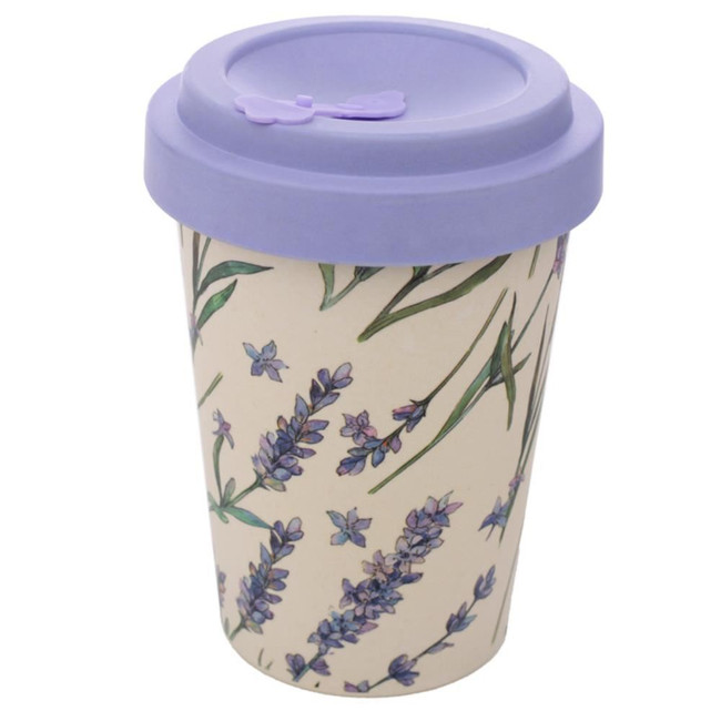 Lavender Reusable Screw Top Bamboo Composite Travel Mug