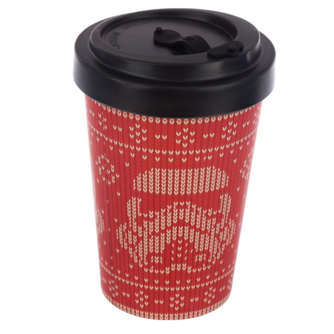 The Original Stormtrooper Red Christmas Reusable Screw Top Bamboo Composite Travel Mug