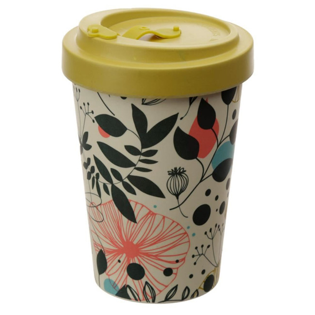Wisewood Botanical Screw Top Bamboo Composite Travel Mug