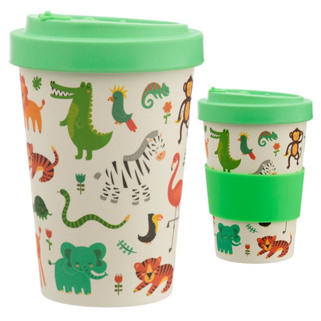 Zooniverse Reusable Screw Top Bamboo Composite Travel Mug